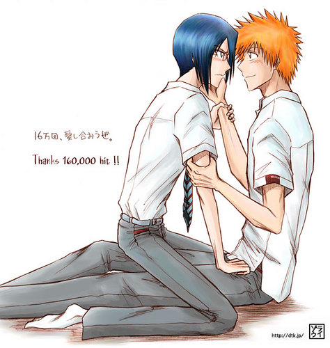Bleach Yaoi wallpaper probably with anime called IchigoxIshida