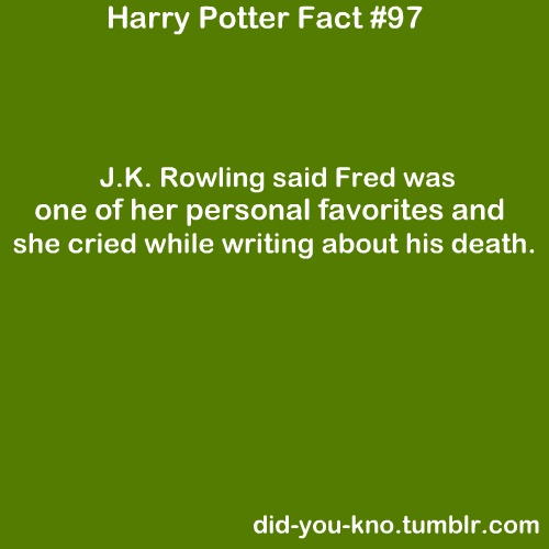 J.K Rowling and Fred