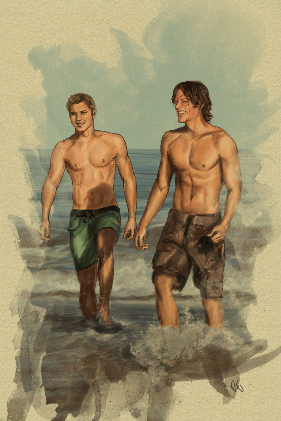 J2 Of The Sea Supernatural Fan Art 23987982 Fanpop