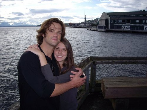 Jared Padalecki wallpaper with a pontoon entitled Jared and his sister