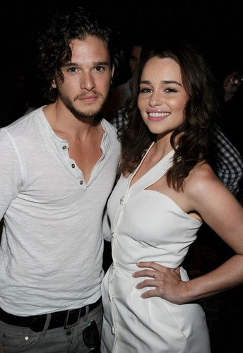 Kit Harington & Emilia Clarke at Comic-Con 2011