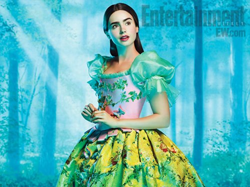 Lily Collins as Snow White.