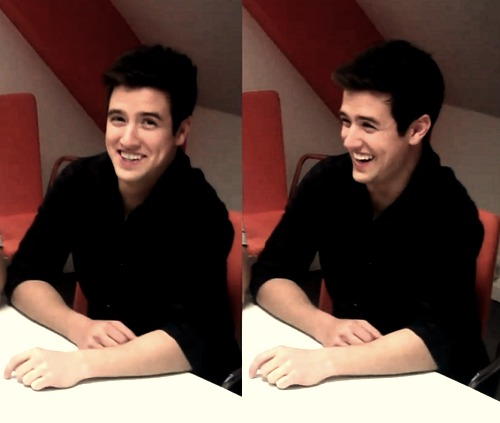 Logan's cute smile and dimples!