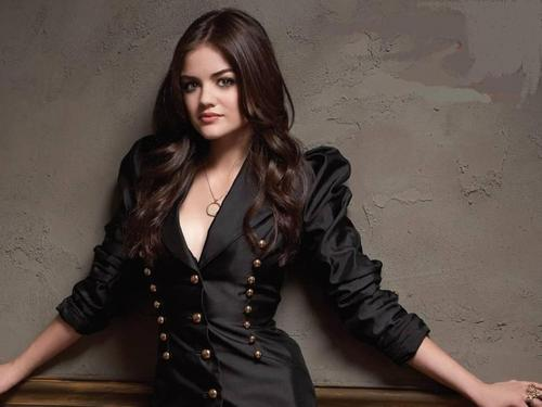 Lucy Hale wallpaper possibly containing a well dressed person, a hip boot, and an overgarment titled Lucy Hale<333