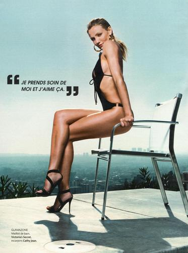 Cameron Diaz kertas dinding probably containing a bikini titled Madame Figaro Scans