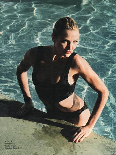 Cameron Diaz wallpaper probably with a bather called Madame Figaro Scans