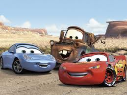 Disney Pixar Cars achtergrond entitled Mater, McQueen, and Sally