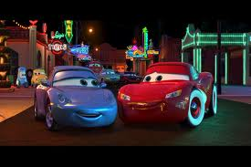 Disney Pixar Cars wallpaper entitled McQueen & Sally in love