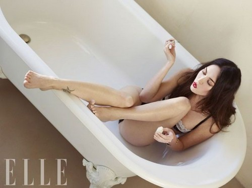 Megan fox, mbweha in the August 2011 Issue of Elle China