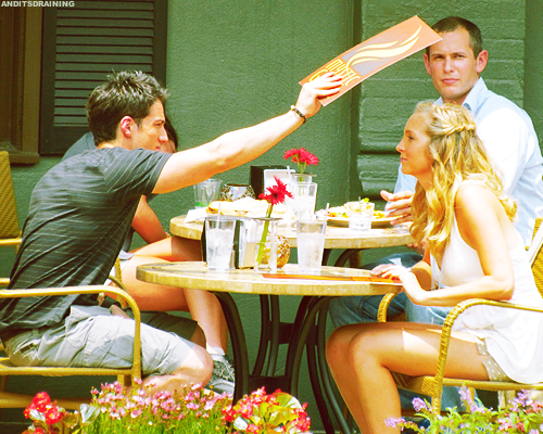 Michael &amp; Candice On Set S3 - tyler-and-caroline Photo