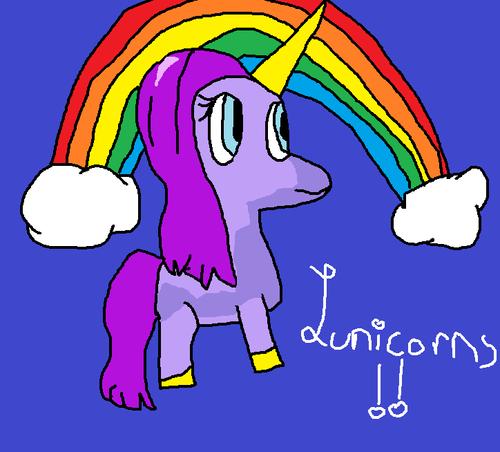 My drawing of a lunicorn!!!