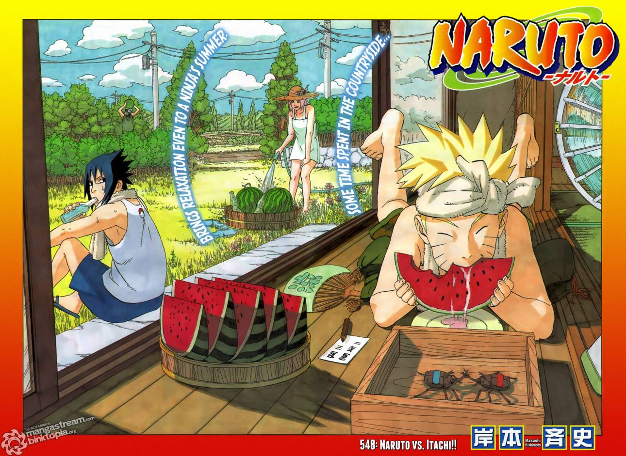 Naruto Chapter Cover 548
