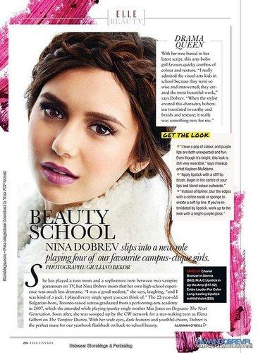 Nina Dobrev for Elle Canada
