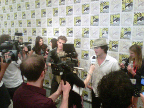 Paul, Ian & Nina at Comic Con