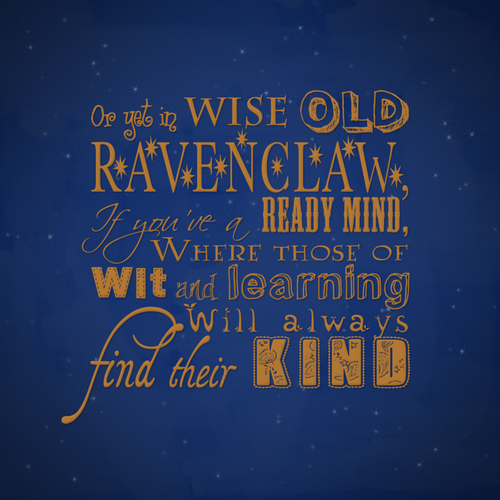 Harry Potter wallpaper possibly with a sign entitled Ravenclaw