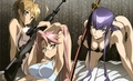 Rei - Saya - Saeko - highschool-of-the-dead photo