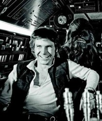 Harrison Ford fond d'écran containing a sign, a business suit, and a rue titled Relaxing on the set of étoile, star Wars
