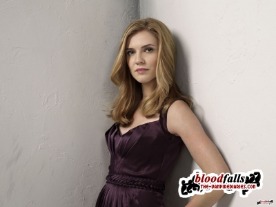 The Vampire Diaries پیپر وال containing a کاک, کاکٹیل dress titled Sara Canning