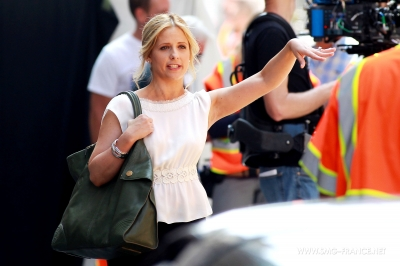 Sarah Filming Ringer (22/July/11)