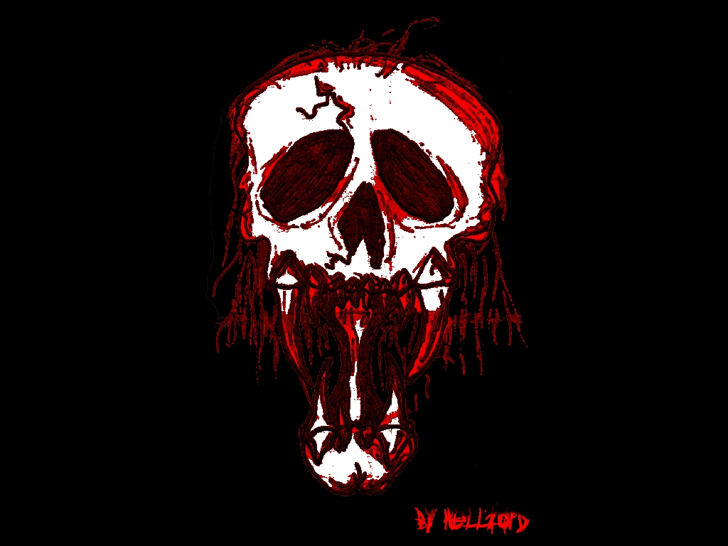 bloody skull wallpaper related - photo #13