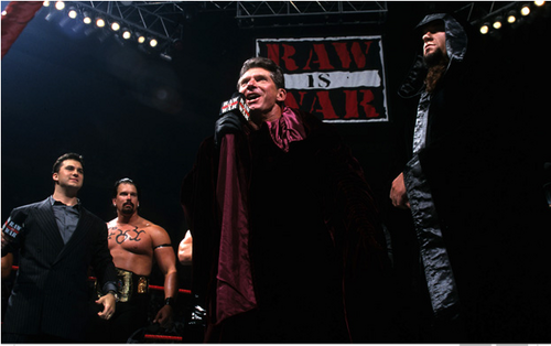 Undertaker achtergrond possibly containing a concert entitled Vince McMahon is the Greater Power - (1999)