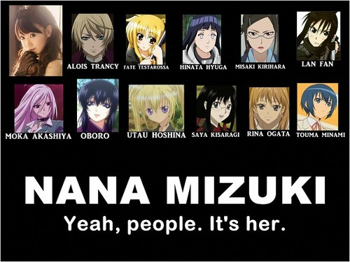 Anime wallpaper entitled Voice actor; NANA MIZUKI
