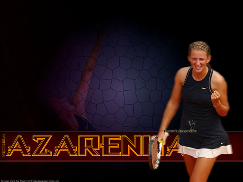 Victoria Azarenka in Purple Grid