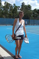 Tsvetana Pironkova displays her Piggies