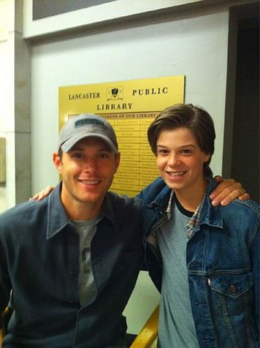 Young Sammy and director Ackles - supernatural Photo