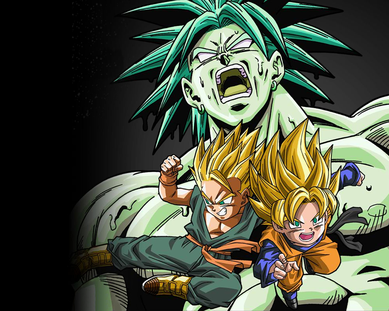 dbz rampage images broly goten and trunks hd wallpaper