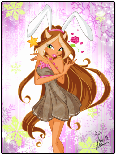 Winx Club Flora wallpaper containing anime entitled flora ♥♥