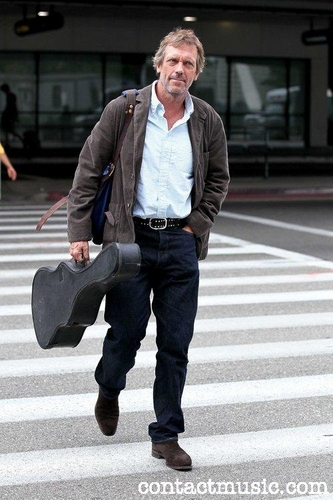 hugh laurie-arrives at LAX airport on a flight from London. Los Angeles, California - 20.07.11