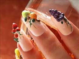 Nails, Nail Art wallpaper possibly with a corn dog, a frosted layer cake, and a string cheese entitled nails