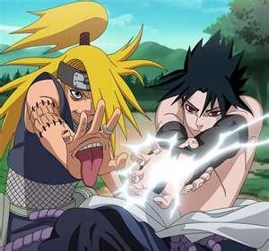 sasuke vs diedara