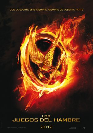 The Hunger Games Movie wallpaper probably containing a fire, an embryonic cell, and anime entitled 'The Hunger Games': Official Spanish poster