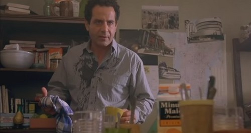 Tony Shalhoub Hintergrund possibly with a brasserie and a abendessen tabelle entitled 13 ghosts