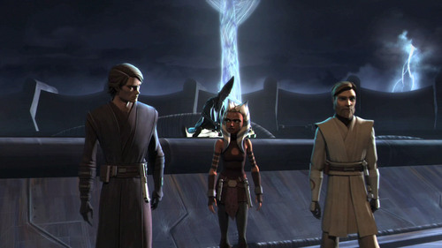 Anakin, Ahsoka and Obi-Wan