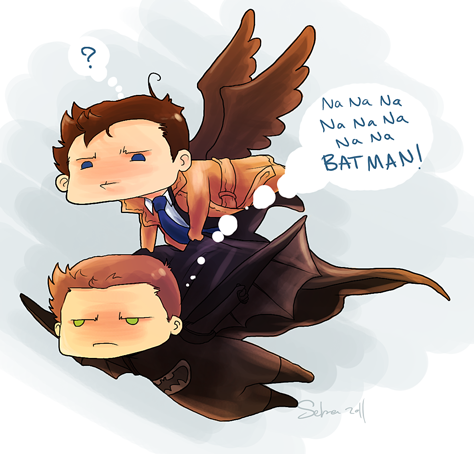 Angel and Batman!