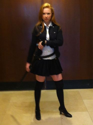 molly quinn wallpaper containing a hip boot titled As Shana for Comic Con