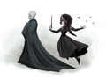 Bella and Voldy - bellatrix-and-lord-voldemort photo