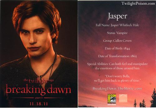 Jasper promo cards