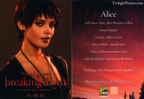 Alice promo cards
