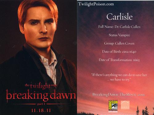 Carlisle promo cards