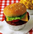 Burger Cupcake - cute-food photo