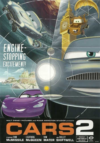 Disney Pixar Cars 2 wallpaper possibly with an internal combustion engine titled Cars 2 Poster (Inside Wii Game)