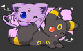 Chibi Espeon & Umbreon - pokemon fan art