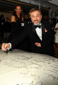 Christoph Signs the Charity Car At 67th Annual Golden Globe Awards