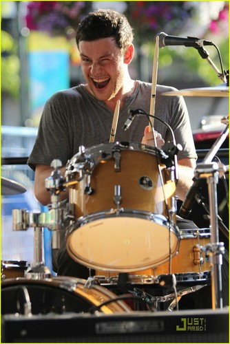 Cory Monteith: Pinkberry Opening with Bonnie Dune! - cory-monteith Photo