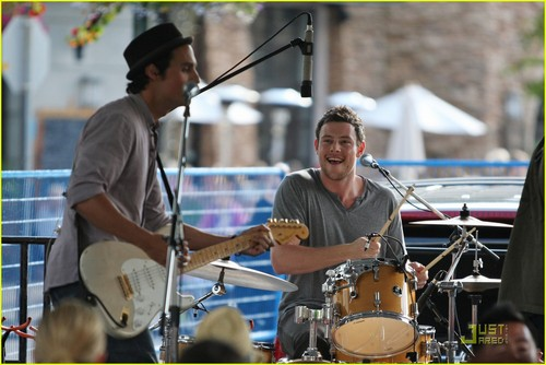 Cory Monteith: Pinkberry Opening with Bonnie Dune!