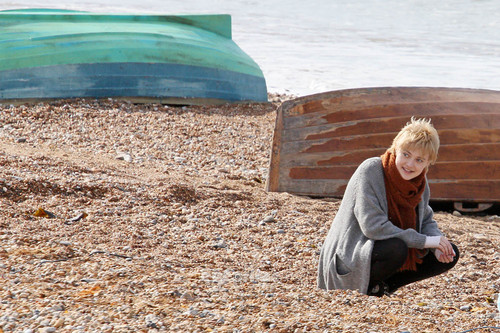 Dakota Fanning and Jeremy Irvine on the Set of Now is Good in Brighton, UK, July 25
